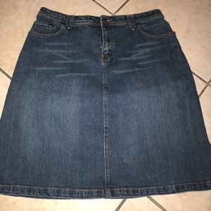 Jean skirt size 14